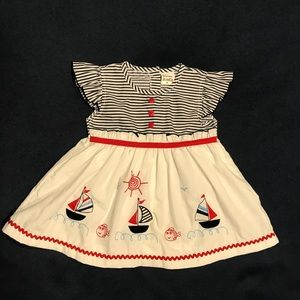 Nautical/Sailing Themed Dress • Size Medium